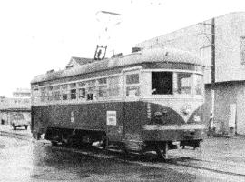 在前靜岡中心市區行駛的路面電車的照片靜岡市文化遺產協會倉庫