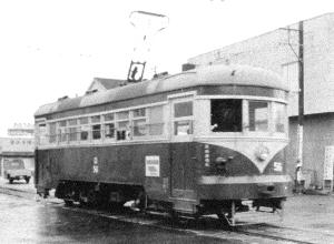 路面電車的照片靜岡市文化遺產協會倉庫
