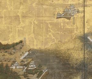 東海道圖屏風(名古屋城和桑名投宿處)。jpg