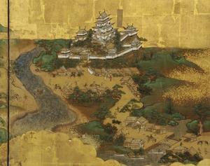 东海道图屏风(府中)。jpg