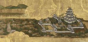 東海道圖屏風(江戶城)。jpg