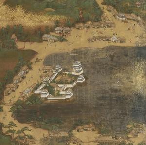 东海道图屏风(膳所投宿处和大津投宿处)。jpg